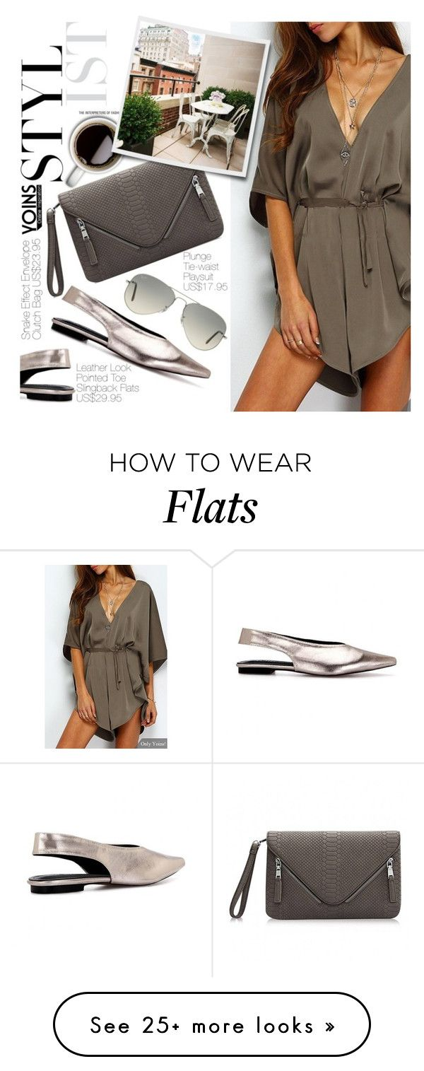 """""""Yoins 17:Coffee Break"""" by pokadoll on Polyvore featuring Ray-Ban, November and yoins"""