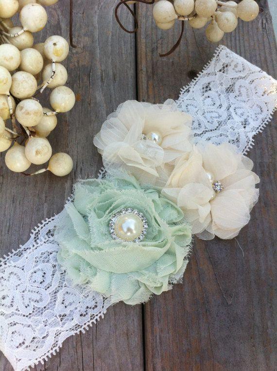 Wedding Garter, Bridal Garter, Mint Green Garter, Lace Garter, Custom Garter on Etsy, $19.99