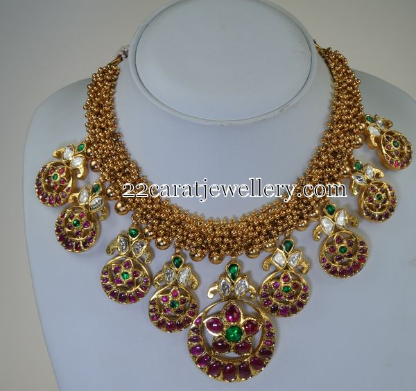 Jewellery Designs: Gold Swirls Exclusive Set