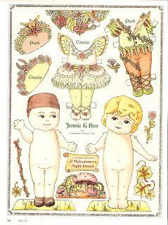 Miss Missy Paper Dolls: Jennie and Ben