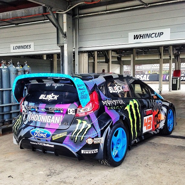 Ken Block's New 2013 Ford Fiesta Hoon Machine.
