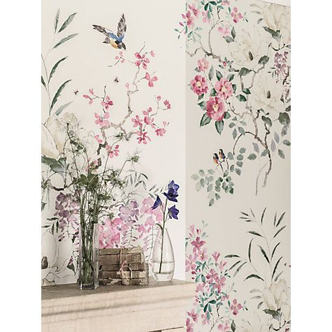 Buy Sanderson Waterperry Magnolia Wallpaper 216305, Panel A Online at johnlewis.com