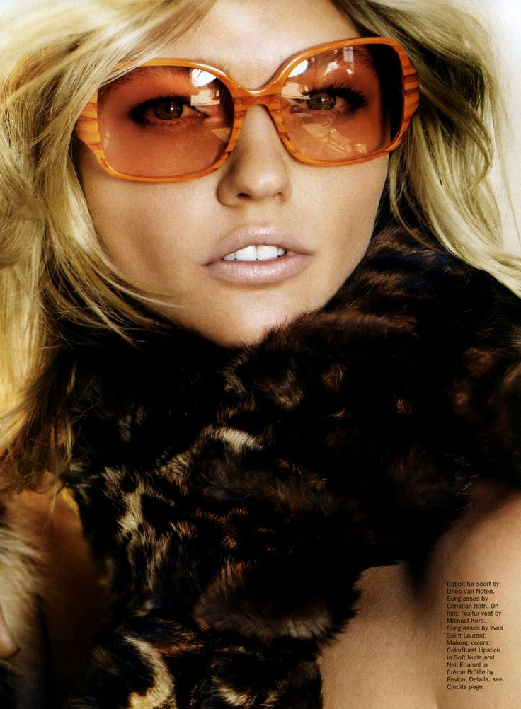 SASHA PIVOVAROVA IN ALLURE OCTOBER 2010