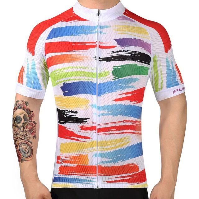 FUALRNY 2017 Summer Men Quick Dry Bike Clothes Short Sleeve Bycicle Clothing Breathable Cycling Jersey Ropa Ciclismo Maillot Q6. Yesterday's price: US $27.00 (23.28 EUR). Today's price: US $12.74 (10.41 EUR). Discount: 15%.