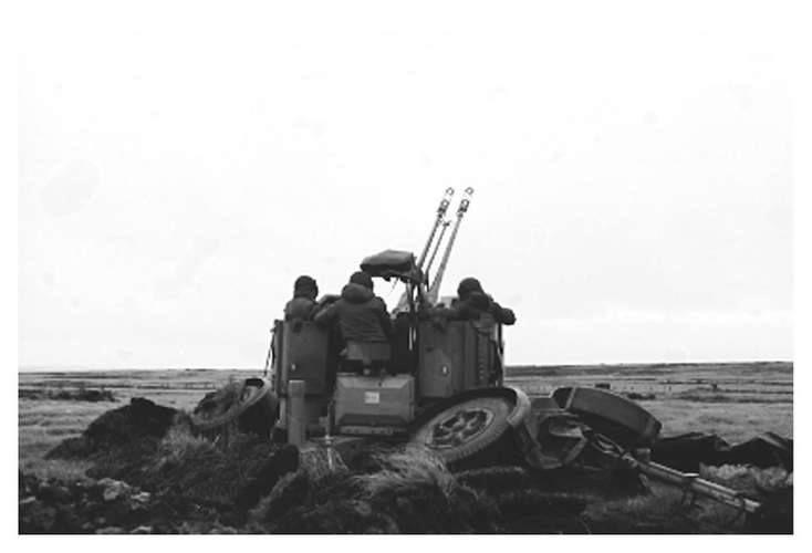 Artillería Antiaérea argentina en Malvinas.