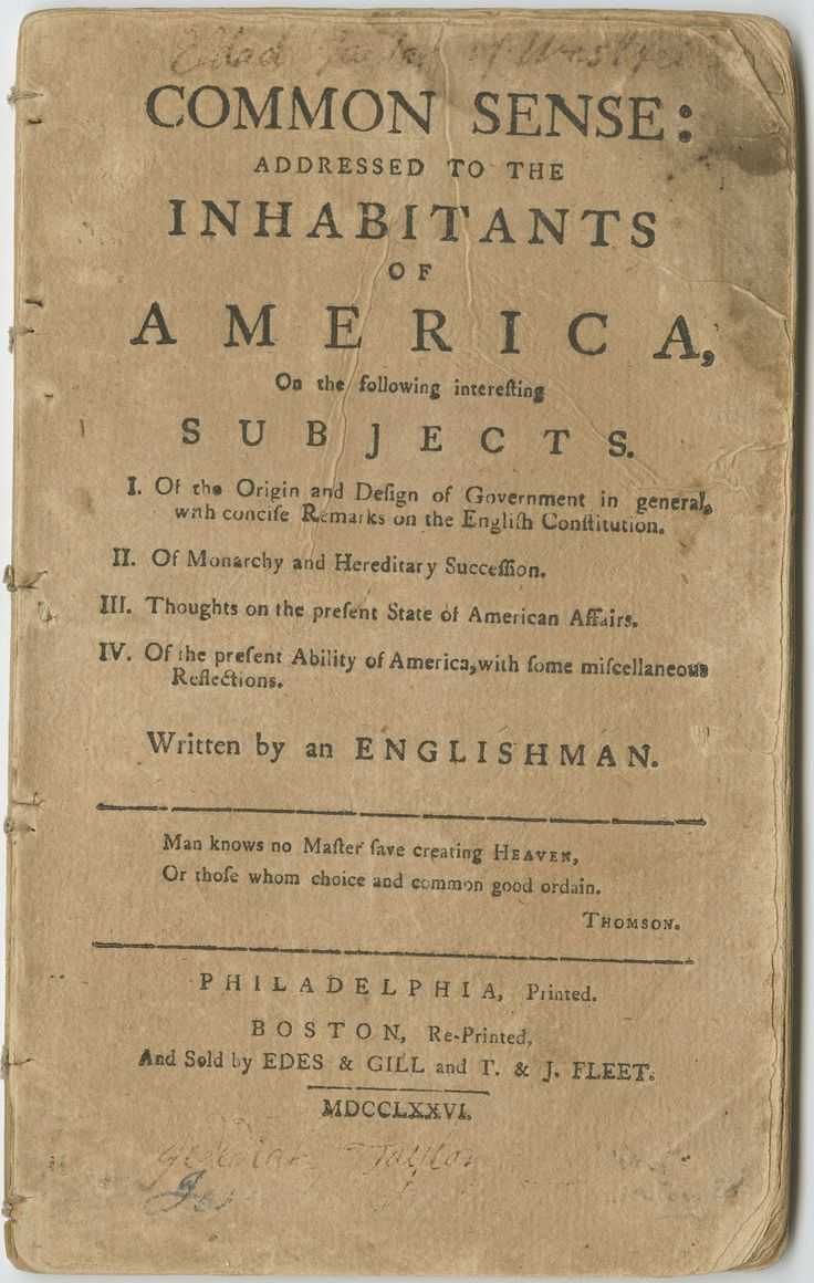 common sense paine essays In common sense, thomas paine argues for american independence his  argument begins with more general, theoretical reflections about government  and.