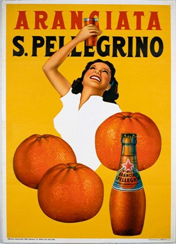 -Aranciata Sanpellegrino #3.  The women in these old ads are always ecstatic about whatever it is in their hands!  I would LOVE to be this happy about a soft drink!