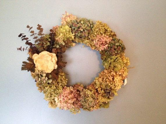 Hydrangea Wreath on Etsy, $60.00