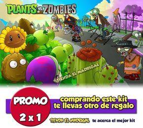 Kit Imprimible Zombies Vs Plants Candy Bar Golosinas 2x1 - $ 44,90 en MercadoLibre