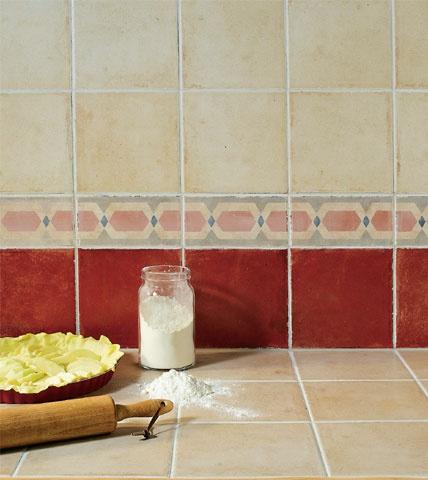 Carrelage 1930 - CASTORAMA - rouge pour le sol de la douche italienne ...