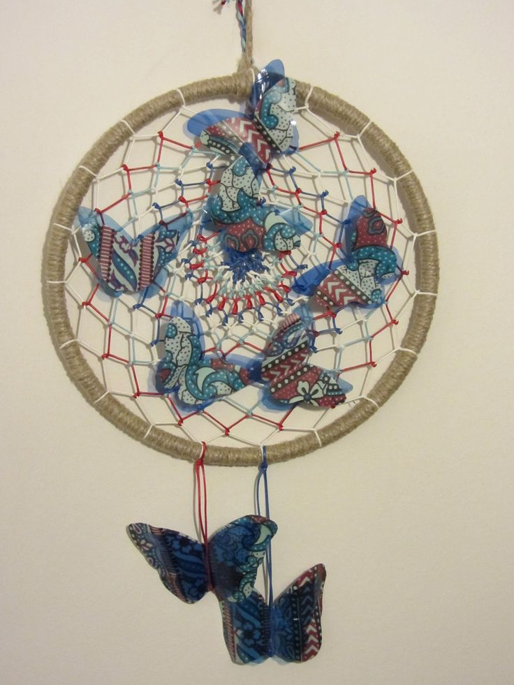 Acchiappasogni con farfalle create con la plastica delle bottiglie - Dream catcher plastic bottle