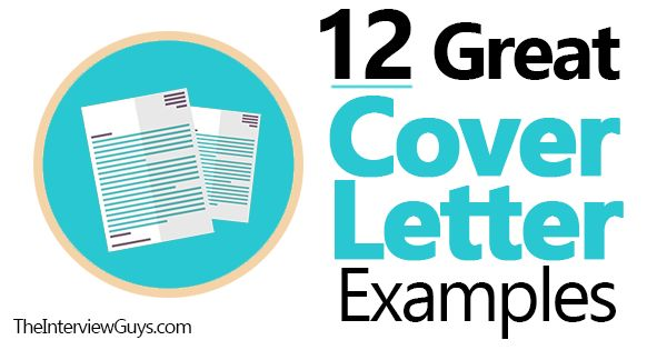 Check out these 12 great cover letter examples. Use these 12 great samples to help you craft a fantastic cover letter. They cover virtually every scenario..