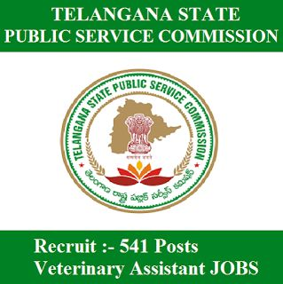 TSPSC Admit Card 2017 | 541 Posts | Veterinary Assistant Jobs | Sarkari Naukri