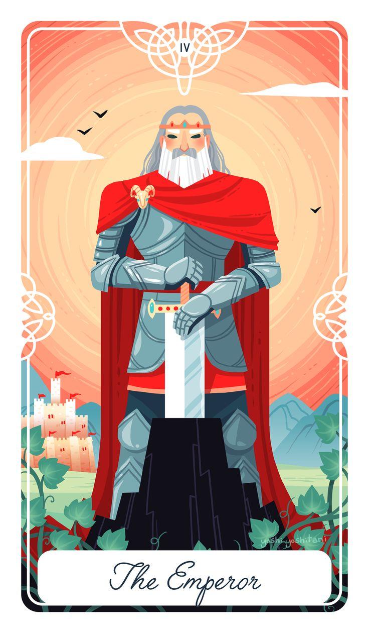 The Emperor as King Arthur, my latest card for my #fairytaletarot As always, if…