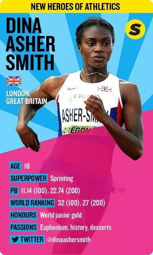 Dina Asher Smith #NewHeroesOfAthletics