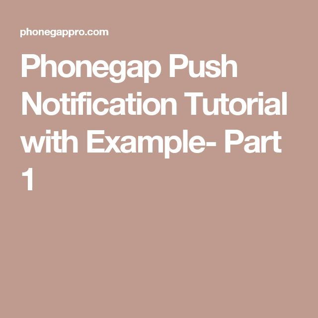 NOTIFICACIONES PUSH EN APACHE CORDOVA- Part 1