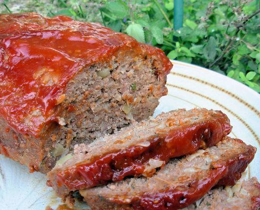 Vegetarian meatloaf-texture is a little soft but tastes good!