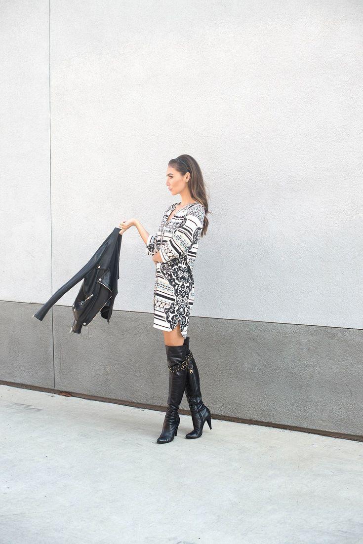 Tienlyn Jacobsen wearing over the knee boots