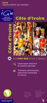 Wegenkaart Ivoorkust - Cote d'Ivoire | IGN