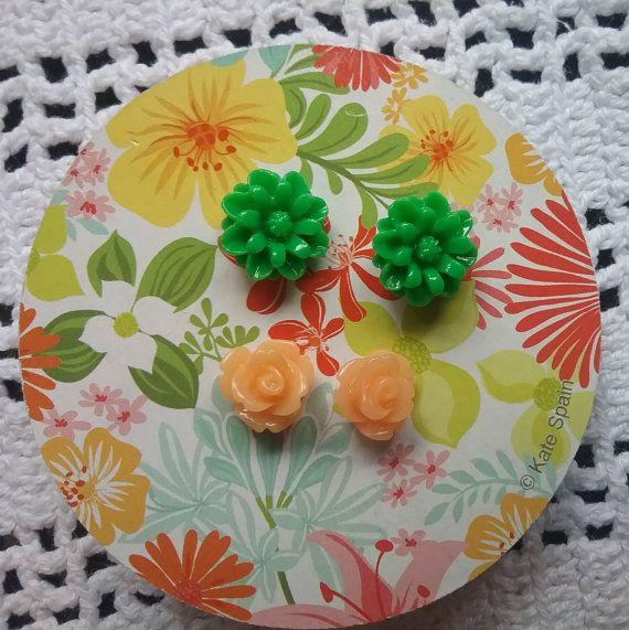 Girls Pierced Earrings Small Stud Earrings Mini by jeanienineandme