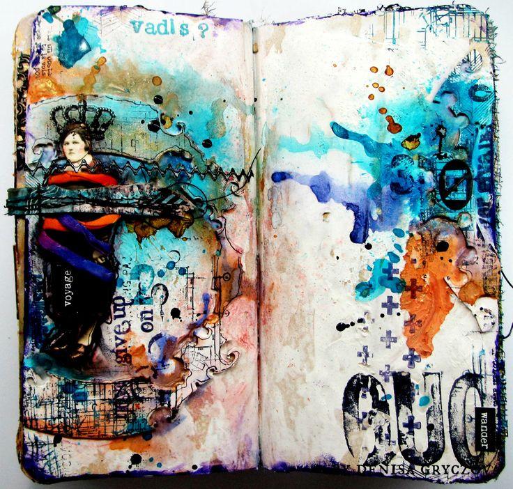 art journaling by Gryczova