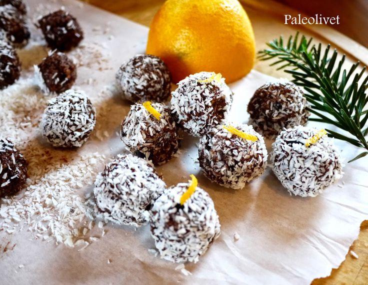 Paleolivet: Daddelkugler med orange-choladesmag (uden nødder)