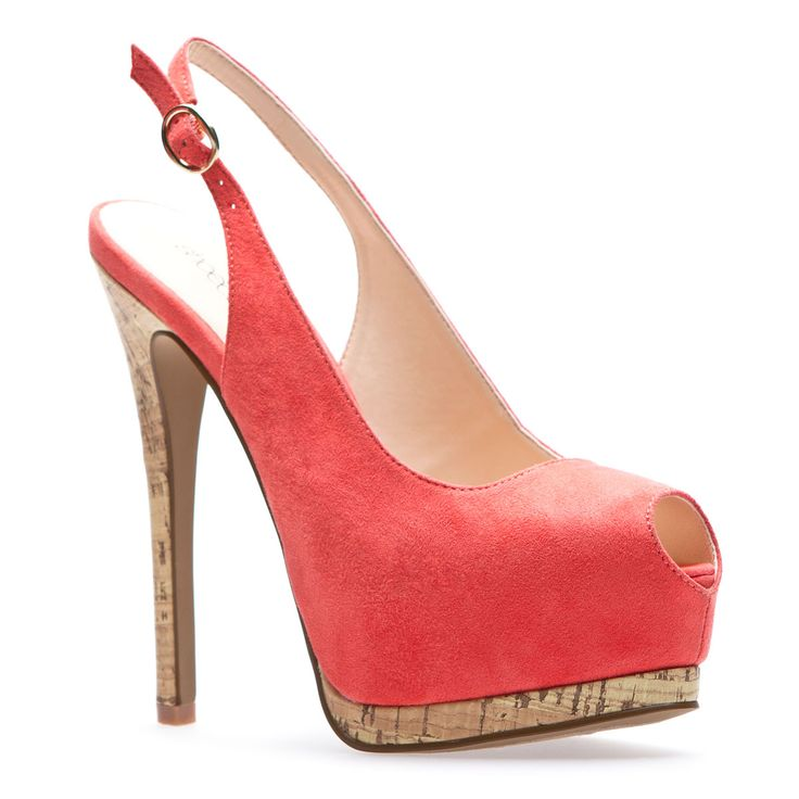 Emelie: Coral Heels, Coral Colors, Shoedazzl With, Summer Shoes, Woman Shoes, Corks, Coral Shoes, Summer Colors, Red Pumps