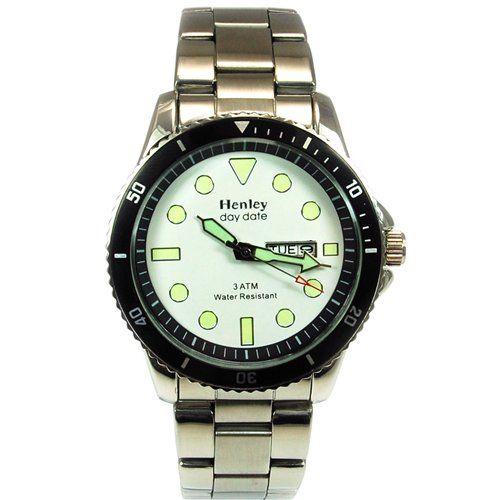 Henley Glamour Gents Bracelet Strap Large Dial Watch