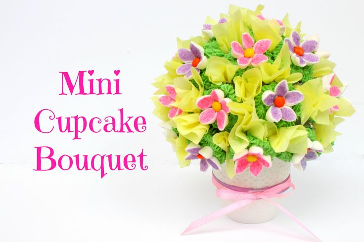 This Mini Cupcake Bouquet is so simple yet so beautiful to make. Perfect gift for your mom this Mothers Day! Previous Video (Strawberry & Yogurt Cream Desser...