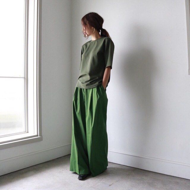 More green #whynot #pleated #pant #newarrivals #thefrankieshop (at Frankie shop)