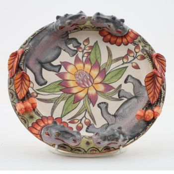 Ardmore Ceramics: Hippo Plate