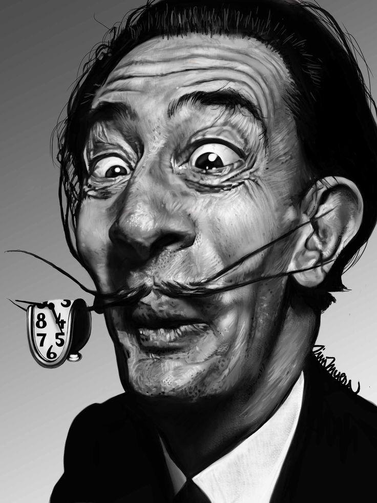 Salvador Dali Caricature By Tim Myers · Salvador Dali ArtArt ...