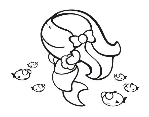 Dibujos Disney Para Colorear La Sirenita Dibujos Animados: Best 19 Dibujos De Sirenas Ideas On Pinterest