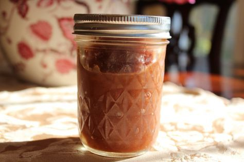 homemade apple butter from applesauce and easy canning instructions.