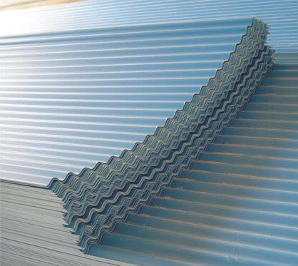 Weather-resistant corrugated galvanized steel sheet for the roofing, available at our nearest building supply store.