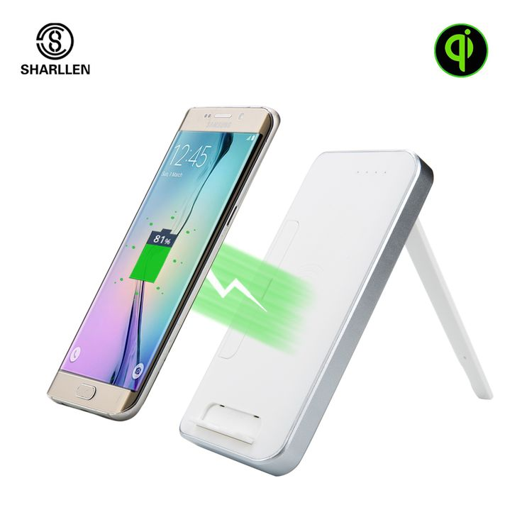 ==> [Free Shipping] Buy Best Sharllen 10000mAh Holder Fast Power Bank With Qi Wireless Charger External Battery Portable Powerbank for Samsung Galaxy iPhone Online with LOWEST Price | 32757501709