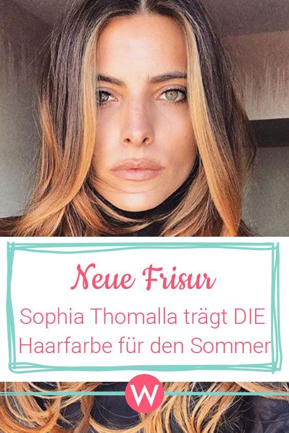 Plotzlich Blond Sophia Thomalla Uberrascht Mit Neuer Frisur