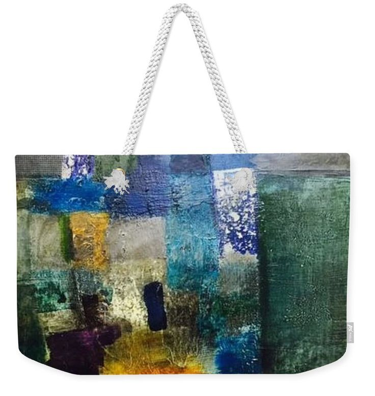 Modern abstract painting on weekender Tote bag. Fine art piece, about original abstract oil painting of Ágota Horváth. Very usefull  bigTote bag for weekend trips or for to the Beac, for You, for your Family or for present to girlfriends. You can order on http://pixels.com different size and with design other product also - towels, pillow, duvet corver and many more other products. Have a fun!