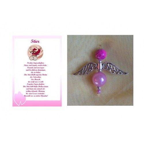 Geschenkset: Perlenengel /Schutzengel + Sternzeichenkarte Stier http://www.spandooly.de/Personalisierte-Welt-100854.ht