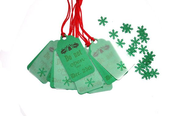 10 Double Christmas Tags | Snowflake Tag | New Christmas Tags | Kraft Christmas Tags | Christmas Packaging | Name Labels | Christmas label