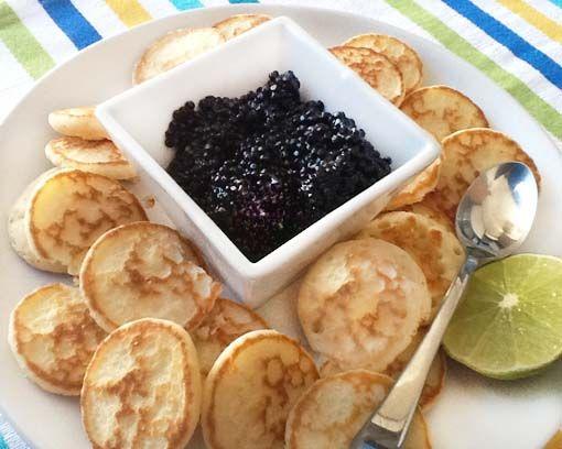 Blinis con caviar - Divina Cocina