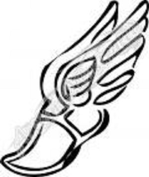 Running Shoe With Wings Symbol