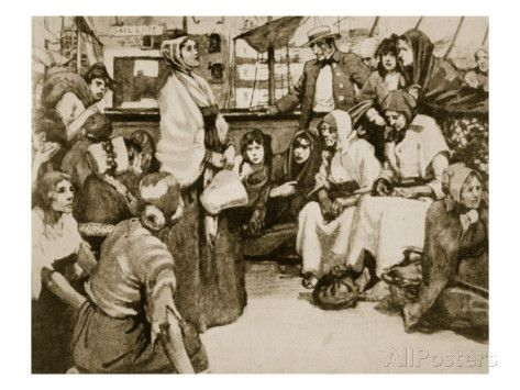 Elizabeth Fry Speaking to the Prisoners on a Convict Ship Giclee Print at AllPosters.com