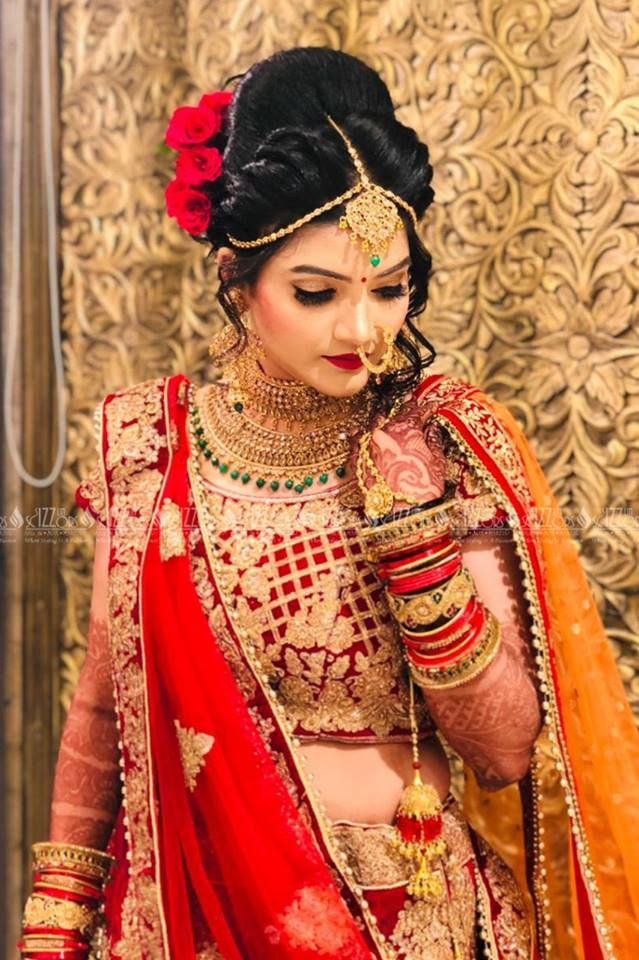 The Bridal Wedding Makeup And Hairstyle Call Now For Bookings