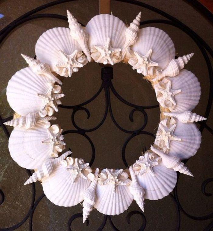 Basteln Mit Holz Und Muscheln ~   Basteln Mit Muscheln auf Pinterest  Muschelkunst, Shell kranz und