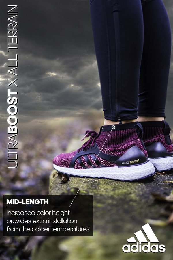 01d594cee9baf Winterize your exercise with the mid-length insulating collar on the UltraBOOST  X All Terrain. Learn more at adidas.com.