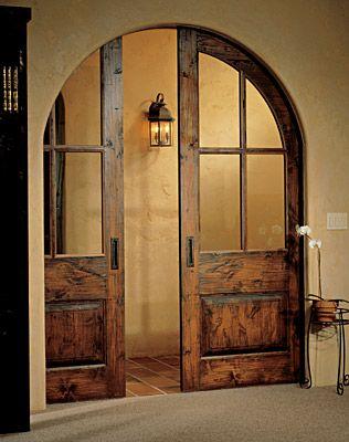 Gorgeous pocket doors - Idea for dining room/living room doorway