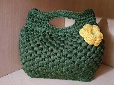 "BORSA FETTUCCIA  ""SABRY"" -CROCHET BAG - YouTube"