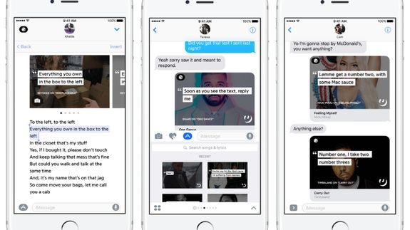 Genius creates iMessage extension to bring more lyrics to your messages