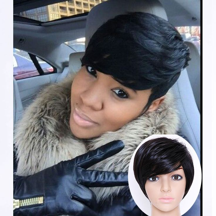 Короткие Pixie Порезы Парики Для Чернокожих Женщин Короткие Волосы Парики Для черные Женщины Парик Natural Fake Волос Штук Черный Женский Парик Косплей волос